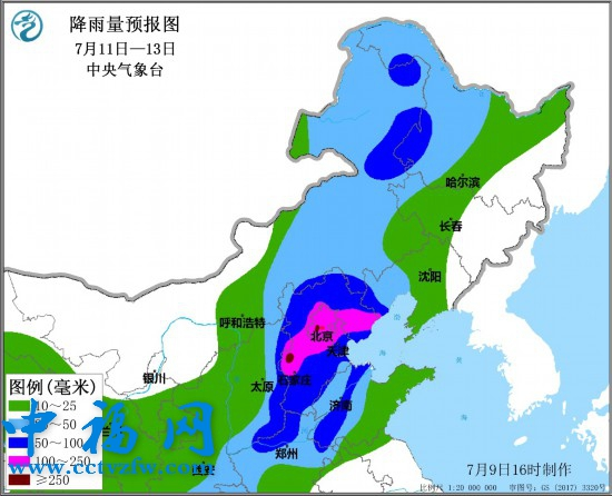title='京津冀部分地区将有大暴雨 北京迎入汛最强降雨!'